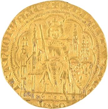 Philippe VI, écu d'or à la chaise, 2e émission