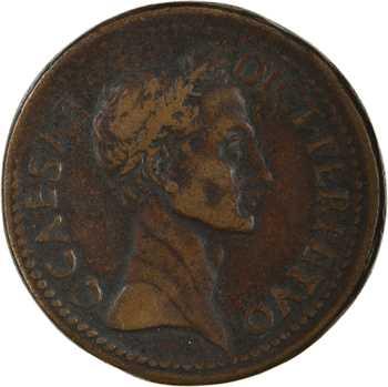 Jules César, sesterce, padouan par Giovanni Cavino, s.d. (XVIe s.) Padoue