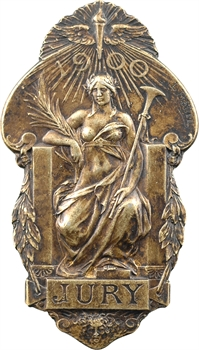 Bottée (L.) : insigne de jury pour l'Exposition internationale de Paris, 1900 Paris (ateliers Christofle)