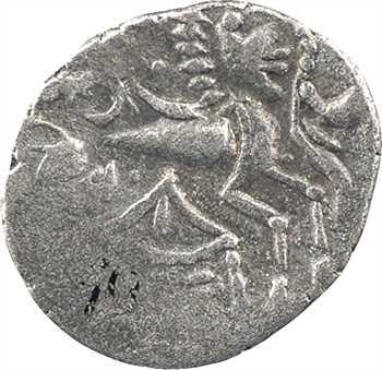 Osismes, quart de statère à la tente, classe II, Ier s. av. J.-C.
