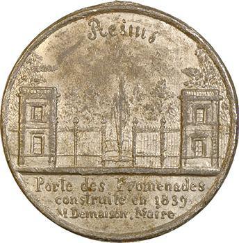 IIe République, Reims, l'ancienne et la nouvelle porte des Promenades, c.1850 Reims
