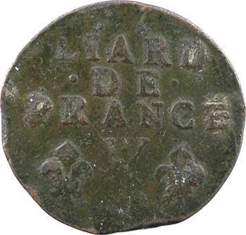 Louis XIV, liard de cuivre, 4e type, 1714 Lille