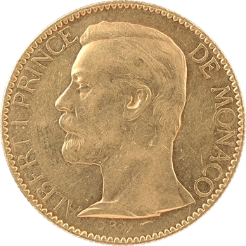 Monaco, Albert Ier, cent francs or, 1896 Paris
