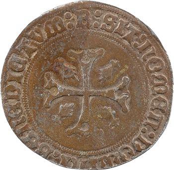 Bretagne (duché de), Anne, gros à l'écu parti, s.d. (1498-1499) Rennes : FAUX XIXe siècle en étain bronzé
