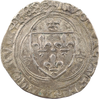 Louis XII, grand blanc à la couronne, Troyes