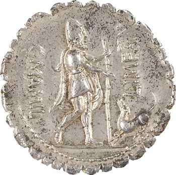 Mamilia, denier serratus, Rome, 82 av. J.-C.