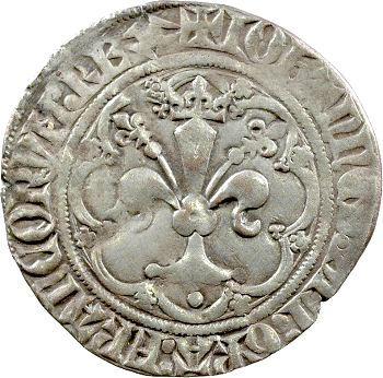Jean II le Bon, gros à la fleur de lis dit Patte d'oie, 1re émission