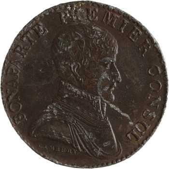 Consulat, essai au module de 5 francs par Lambert, An XI Paris
