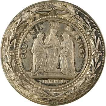 IIIe République, souvenir de mariage, 1877