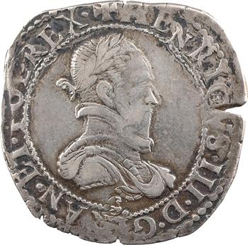 Henri III, demi-franc au col plat, 1578 Troyes
