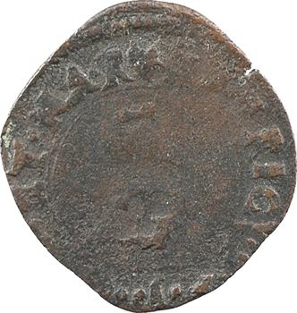 Henri IV, liard au dauphin, 1592 Grenoble