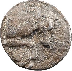 Éolide, Cymé, hémiobole ou trihémitartemorion, c.350-320 av. J.-C