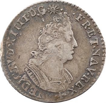 Louis XIV, douzième d'écu aux palmes, 16?? Nantes