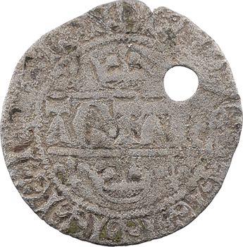 Aquitaine (duché d'), Édouard III, blanc aux quadrilobes, imitation de la première émission de Jean II le Bon, s.d. (fin 1354-1355)