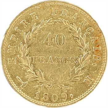 Premier Empire, 40 francs Empire, 1809 Toulouse