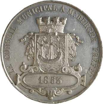 Second Empire, le Conseil Municipal de Paris au préfet Berger, 1853 Paris