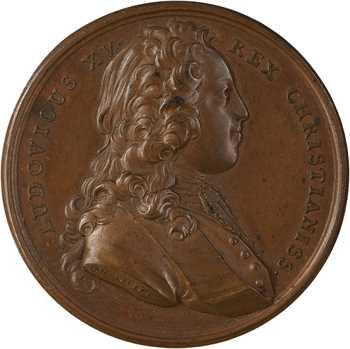 Louis XV, mariage avec Marie Leczinska, par Duvivier, 1725 Paris