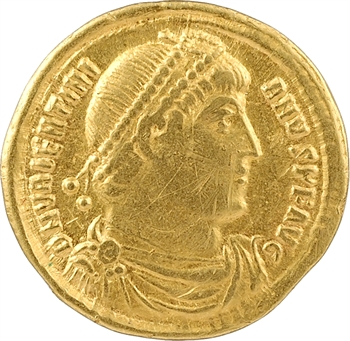 Valentinien Ier, solidus, Antioche, 4e officine, 364-367