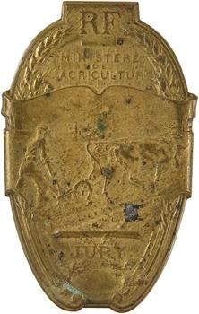 IIIe République, plaque de jury de concours agricole, s.d.