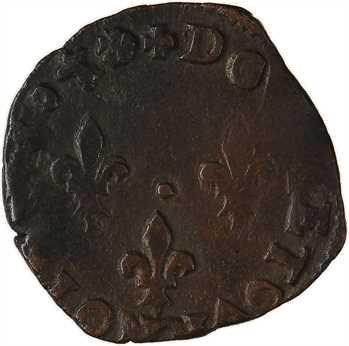 Henri III, double tournois, buste à gauche, 1580 Bayonne