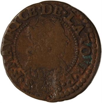 Ardennes, Sedan (principauté de), Frédéric-Maurice de La Tour, double tournois 12e type, 1633 Sedan