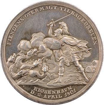 Danemark, bataille sur la rade de Copenhague, par Loos, 1801 Berlin