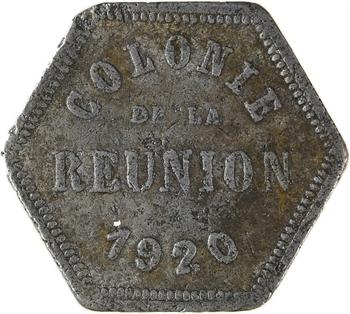 Réunion (Île de la), 10 centimes de nécessité, 1920 Paris
