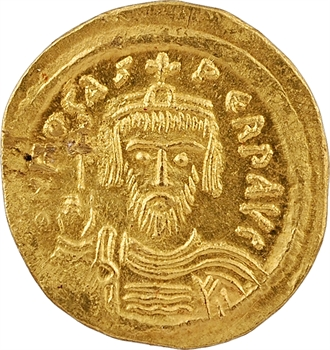 Phocas, solidus, Constantinople, 10e officine, 607-610