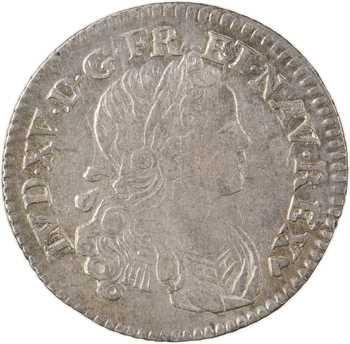 Louis XV, dixième d'écu de Navarre, 1718 Strasbourg