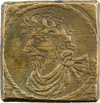 Grande Bretagne, poids monétaire pour demi-souverain de Jacques Ier, par Jacques de Backer à Anvers (1644-1648)