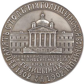 Russie, centenaire de l'hôpital Golitsyn, 1902