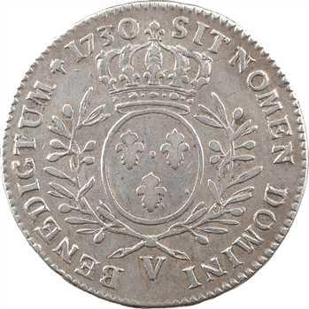 Louis XV, demi-écu aux rameaux d'olivier, 1730 Troyes