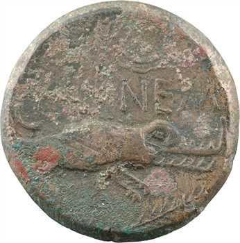 Nîmes, Auguste et Agrippa, as, Nîmes, c.16/15-10 av. J.-C.