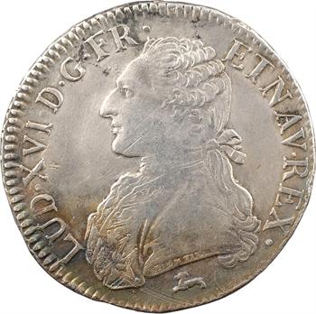 Louis XVI, écu aux branches d'olivier, 1786 Orléans