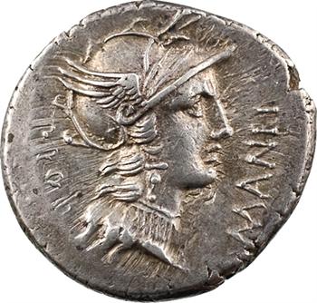 Manlia, denier, Rome, 82 av. J.-C.