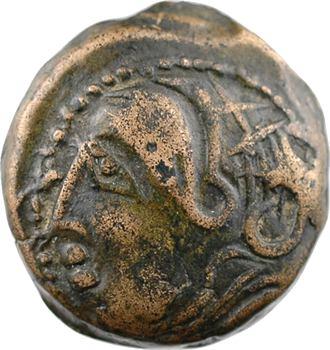 Carnutes, bronze dérivé du bronze lourd à la tête de ROMA, classe II, IIe-Ier s. av. J.-C