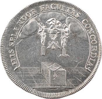Allemagne, Brunswick, jeton maçonnique, 5744 (1744)