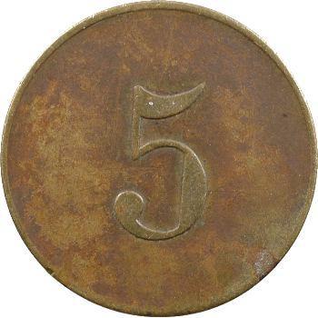 Algérie, Ain-Mokra, Mines de Mokta El-Hadid, 5 centimes