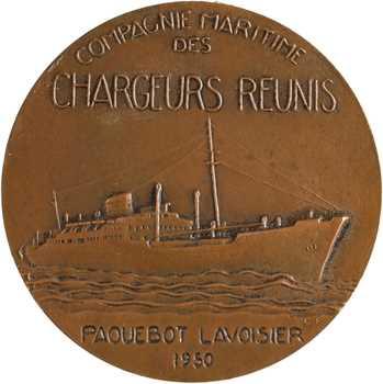 Compagnie Maritime des Chargeurs Réunis, le paquebot Lavoisier, par Fraisse, 1950 Paris