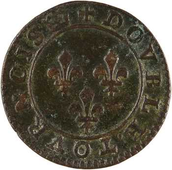 La Ligue au nom d'Henri III, double tournois, s.d. (la Ligue) Paris