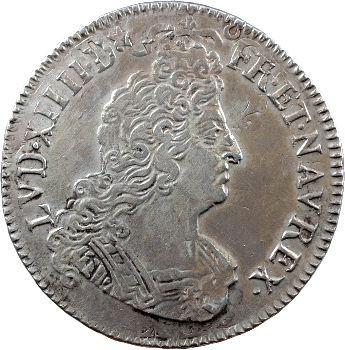 Louis XIV, demi-écu aux insignes, 1702 Caen