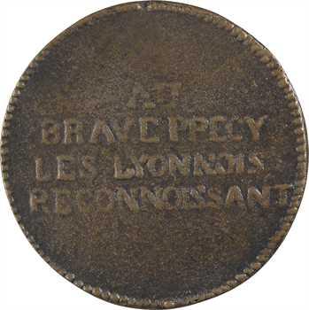 Constitution, Lyon rend hommage au comte de Précy, fonte biface, 1792 Lyon