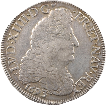 Louis XIV, demi-écu aux huit L, 1er type, 1693 Troyes