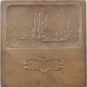 Italie, Venise, Félix Ziem, par A. Motti, bronze, 1911 Paris