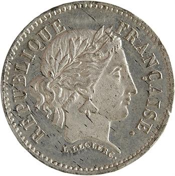 IIe République, concours de 20 francs or par Leclerc, 2e type, 1848 Paris