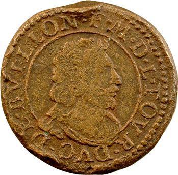Sedan (principauté de), Frédéric-Maurice de La Tour, piéfort de double tournois 14e type, 16?? Sedan