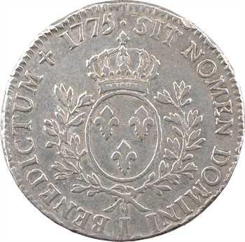 Louis XVI, écu aux branches d'olivier, 1775 Limoges