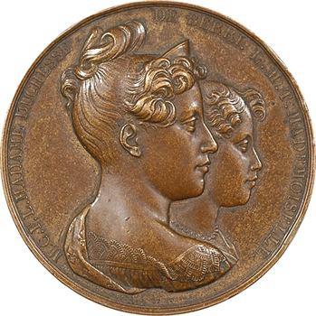 Duchesse de Berry et sa fille, achèvement de la route Mademoiselle entre Mantes-la-Jolie et Magny-en-Vexin, 1829 Paris