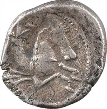 Allobroges, denier à l'hippocampe à droite, classe II, c. IIe-Ier s. av. J.-C