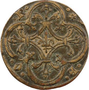 Moyen-Âge, jeton de compte des ducs de Bourbon, s.d